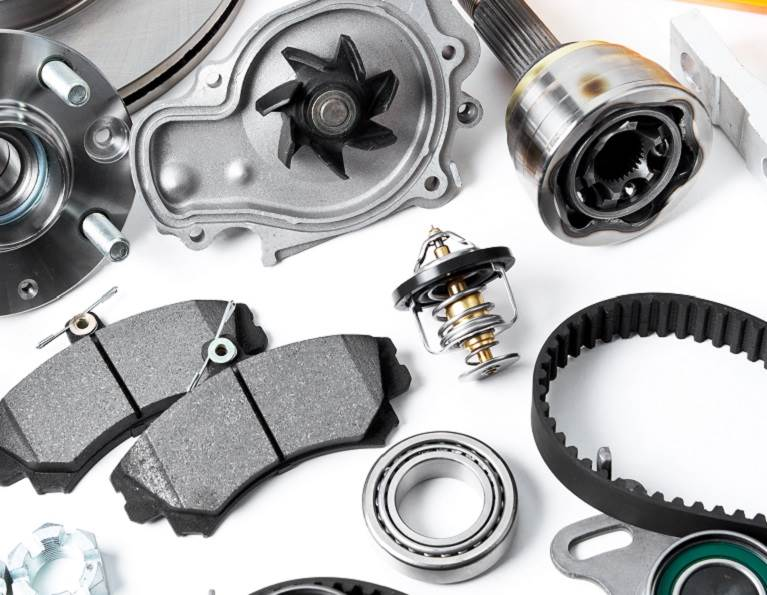 Metal and rubber auto parts.