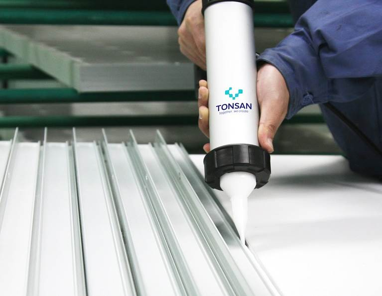 TONSAN product being used in frame sealing.